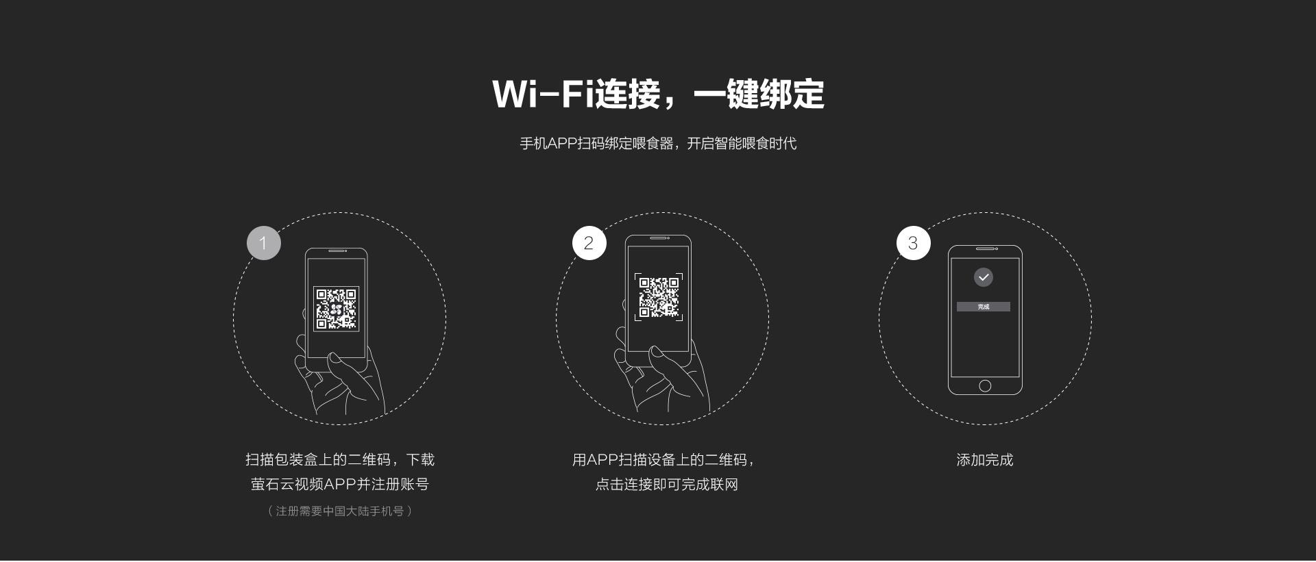 Wi-Fi链接,一键绑定