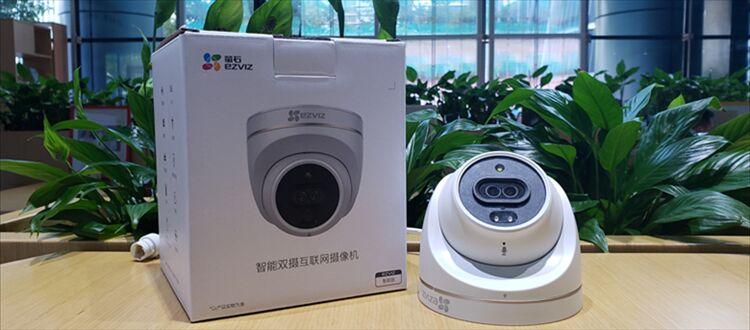 新品开箱 萤石智能双摄互联网摄像机C4X,来啦!