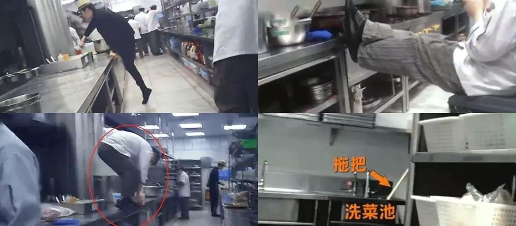 监控拍下餐厅厨师向炒菜锅吐口水,厨师:嗓子不舒服吐在外面