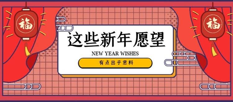 这些新年愿望,让人出乎意料!