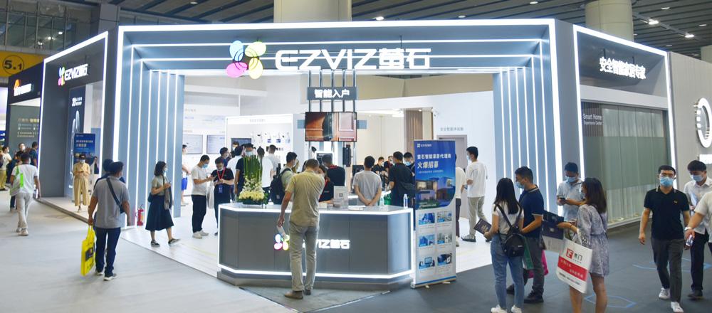 萤石亮相2021 广州建博会,智能人脸视频锁C位出圈